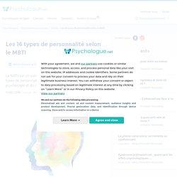 Les 16 types de personnalité selon le MBTI
