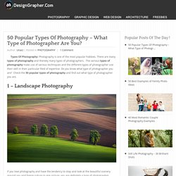 10 Popular Types Of Photography - What Type of Photographer Are You? - DesignGrapher.Com