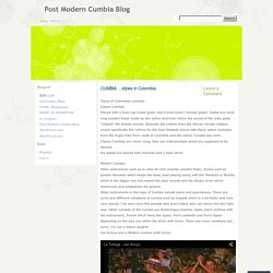 Post Modern Cumbia Blog