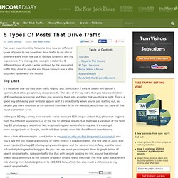 6 Types Of Posts That Drive Traffic