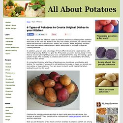 Potatoes food and cooking pearltrees for Different ways to cook russet potatoes