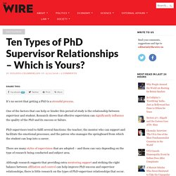 Ten Types of PhD Supervisor Relationships – Which is Yours?