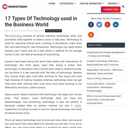 17 Types Of Technology used in the Business World