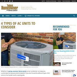 4 Types of AC Units to Consider