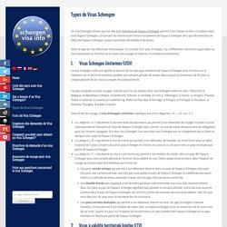 Types de Visas Schengen - Visa Schengen