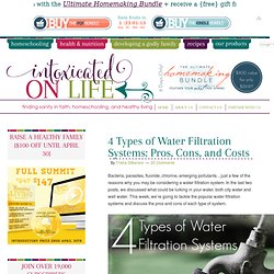 Types of Water Filtration Systems