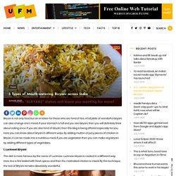 5 Types of Mouth-watering Biryani across India