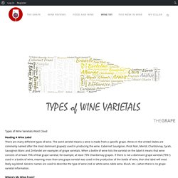 Types of Wine Varietals - THEGRAPE