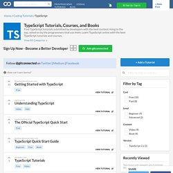Learn TypeScript - Best TypeScript Tutorials (2019)