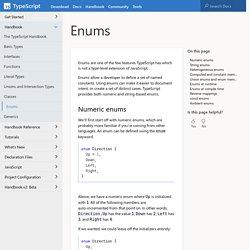 TypeScript: Handbook - Enums