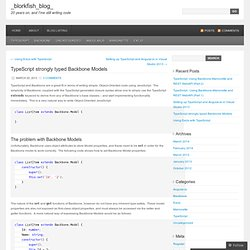 TypeScript strongly typed Backbone Models