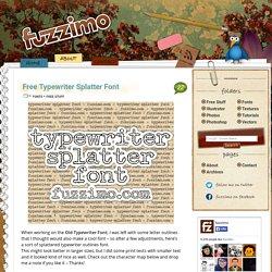 Free Typewriter Splatter Font