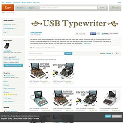 USB Typewriter by usbtypewriter on Etsy