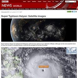 Super Typhoon Haiyan: Satellite images