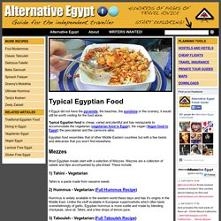 Typical Egyptian Food - Alternative Egypt Travel Guide