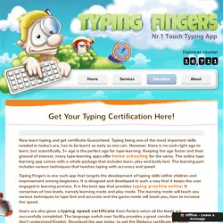 Get Typing Certificate from Typing Fingers