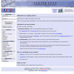 Typing Zone: international typing speed contest