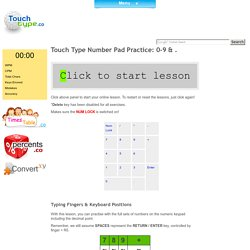 Learn How to Touch Type With Number Pad & Number Lessons
