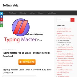 Typing Master 10 Crack + Product Key Full Download
