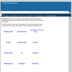 Typing Games - play fun and addicting typing games online for free!