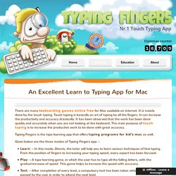 Typing Programs for Kids Mac - Typing Fingers