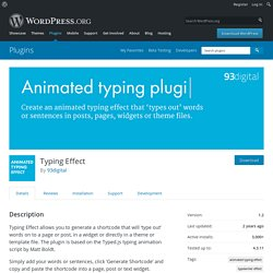 Typing Effect — WordPress Plugins