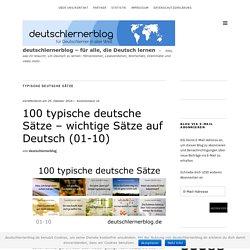 100 typische deutsche Sätze – wichtige Sätze auf Deutsch (01-10)