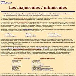 Typo: majuscules-minuscules