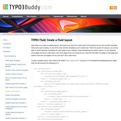 TYPO3 Fluid: create a Fluid layout