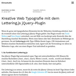 Kreative Web Typografie mit dem Lettering.js jQuery-Plugin – Elmastudio