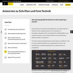 Was sind typografische Features in einer OpenType Schrift