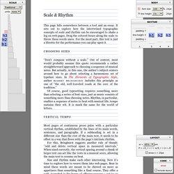 Typograph – Scale & Rhythm