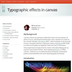 HTML5 Rocks - Typographic effects in canvas