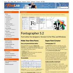 Typographic Tools - font editors and converters - Fontographer