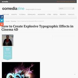 Create Explosive Typographic