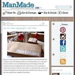 Crafts for Men « Keywords: paper, craft, design, gift