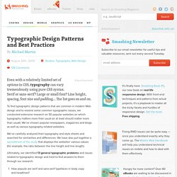Typographic Design Patterns and Best Practices