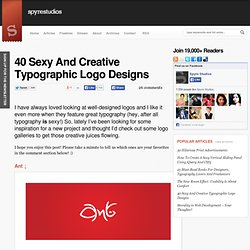 40 Sexy And Creative Typographic Logo Designs
