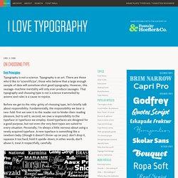 On Choosing Type