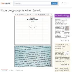 Cours de typographie. Adrien Zammit - PDF Free Download