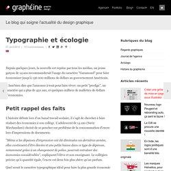 Typographie et écologie