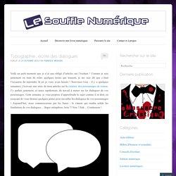 Typographie : écrire des dialogues
