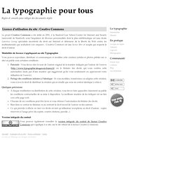 La typographie, site sous licence Creative Commons
