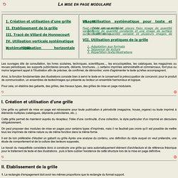 Typographie : La mise en page modulaire
