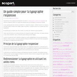 Un guide simple pour la typographie responsive : blog Scopart