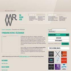 Typographie retro à télécharger