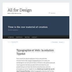 Typographie et Web : la solution Typekit | All For Design