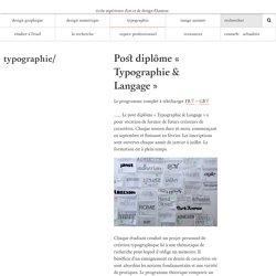 typographie - école supérieure d'art et de design d'Amiens