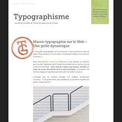 Macro-typographie sur le Web – Une grille dynamique