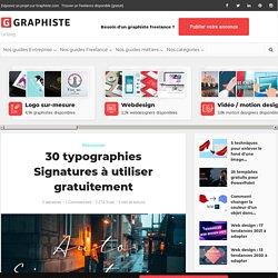 30 typographies Signatures à utiliser gratuitement